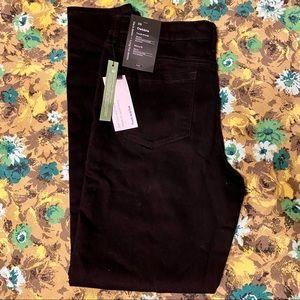 NWT Frank & Oak high rise skinny fit black jeans
